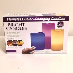 Flameless color changing candles w/remote NIB